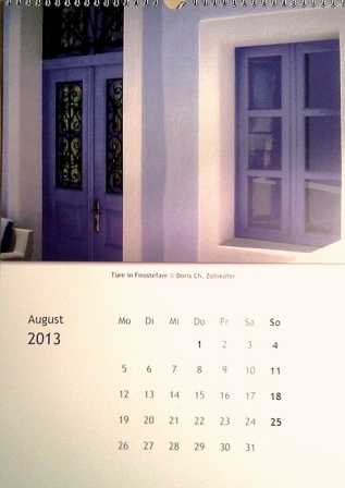 kalender doris zollikofer august
